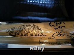 Atlanta Braves'95 World Series Team Signed Cooperstown Baseball Bat PSA LOA