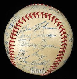 Beautiful 1949 New York Yankees World Series Champs Team Signed Baseball JSA COA