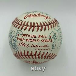Beautiful 1988 Los Angeles Dodgers World Series Champs Team Signed Baseball JSA