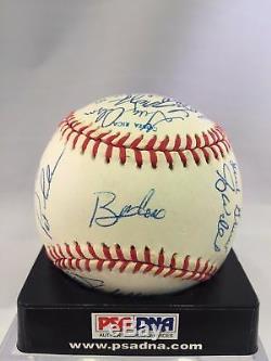 Beautiful 1991 Atlanta Braves Team Signed World Series Baseball PSA DNA COA