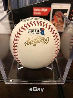 Ben Zobrist Autographed 2016 World Series Baseball Cubs Beckett COA MVP With Cube
