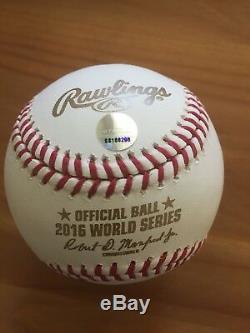 Ben Zobrist Chicago Cubs 2016 World Series Signed Logo Baseball Steiner COA