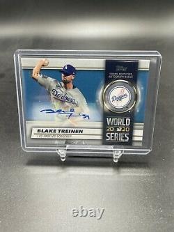 Blake Treinen 2021 Topps Series 1 #WCA-BT Auto /50 World Series Champion Dodgers
