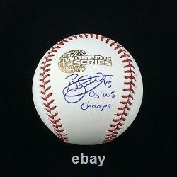 Bobby Jenks Chicago White Sox Signed Autographed 2005 World Series Baseball JSA