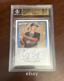 Bowman Perfect Game Corey Seager RC BGS 9.5/10 Auto MVP World Series # 137/235