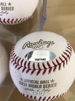 Buster Posey 3x World Series Signed Baseball SET 2010 2012 2014 COA SF Giants