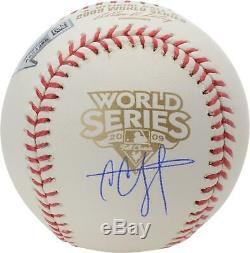CC Sabathia New York Yankees Autographed 2009 World Series Logo Baseball