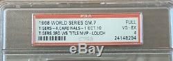 CLINCHER! 1968 World Series Game 7 Tigers Cardinals Full Unused Ticket PSA 4