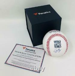 COREY SEAGER Autographed Los Angeles Dodgers 2020 World Series Baseball FANATICS