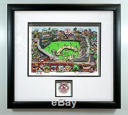 Charles Fazzino Boston Red Sox 2004 World Series Deluxe Remarque Edition