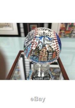 Charles Fazzino Jeter & Piazza 3D Hand Painted Baseball Autograph World Series