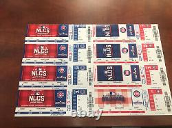 Chicago Cubs 2016 Full Playoff NLDS NLCS & World Series Ticket stub in strip
