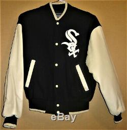 Chicago White Sox Leather/wool Jacket And Two 2005 World Series Baseballs