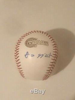 Chicago White Sox Tadahito Iguchi 2005 World Series signed baseball in Japanese