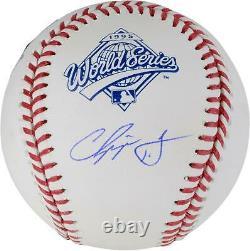 Chipper Jones Atlanta Braves Signed 1995 World Series Logo Baseball Fanatics
