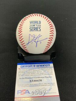 Chris Taylor Dodgers Signed 2020 World Series Baseball Psa Witness