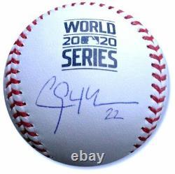 Clayton Kershaw Hand Signed Autographed 2020 World Series Baseball Dodgers MLB
