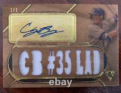 Cody Bellinger 2017 Topps Triple Threads Wood Auto Jersey RC #d 1/1 World Series