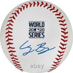 Cody Bellinger LA Dodgers Signed 2020 MLB World Series Champs Logo Baseball