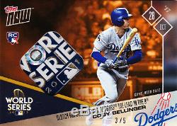 Cody Bellinger World Series Game Used Base Relic 2017 Topps Now 838E 3/5 His #35