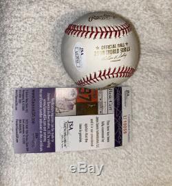 Cole Hamels Signed Autographed 2008 World Series MVP Baseball Phillies JSA COA