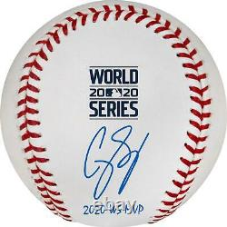 Corey Seager Dodgers 2020 World Series Champs Signed Baseball & 20 WS MVP Insc