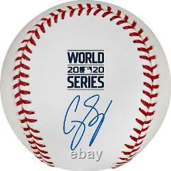 Corey Seager Los Angeles Dodgers Autographed 2020 World Series Logo Baseball
