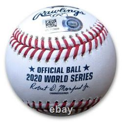 Corey Seager Signed Autographed World Series Baseball 2020 WS MVP Dodgers MLB