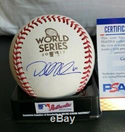 DALLAS KEUCHEL signed 2017 World Series Baseball HOUSTON ASTROS with COA BECKETT