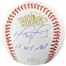 DAVID ORTIZ Autographed 2013 World Series MVP World Series Baseball FANATICS