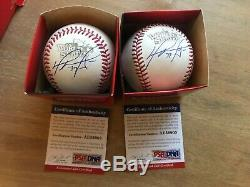 David Ortiz Authenticated / Autographed 2013 World Series Baseball PSA/DNA