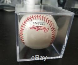 Derek Jeter Autographed 1998 World Series Baseball Yankees STEINER Vintage MINT