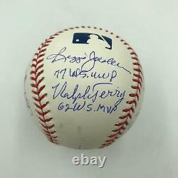 Derek Jeter & Mariano Rivera Yankees World Series MVP's Signed Baseball JSA COA