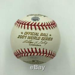 Derek Jeter Mr. November Signed 2001 World Series Baseball MINT Steiner COA
