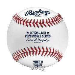 Dodgers Magic Johnson Signed 2020 World Series Logo Oml Baseball BAS PRESALE