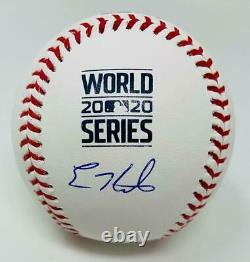 ENRIQUE HERNANDEZ Autographed Dodgers 2020 World Series Baseball FANATICS