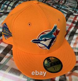 Exclusive Mango Toronto Blue Jays World Series Patch New Era 59Fifty Fitted 71/2