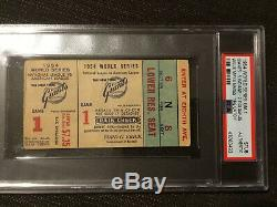 Famous 1954 World Series Ticket Willie Mays The Catch NY Giants