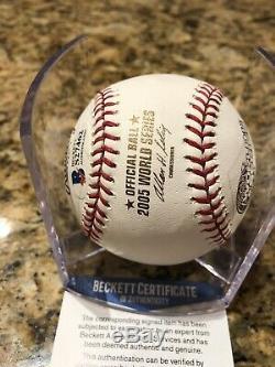 Frank Thomas Signed Official 2005 World Series Baseball BAS COA White Sox HOF