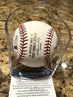 Frank Thomas Signed Official 2005 World Series Baseball Beckett COA White Sox