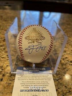 Frank Thomas Signed Official 2005 World Series Baseball Beckett COA White Sox 4
