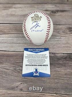 George Springer Signed Houston Astros 2017 World Series Baseball Beckett COA