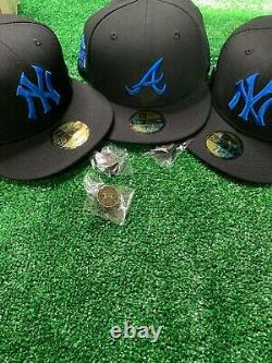 Hat Club Exclusive MLB BlackBerry New Era 59Fifty Blue Bottom With Pin