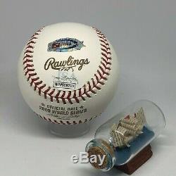Hideki Matsui signed Rawlings 2009 World Series Logo Baseball JSA Yankees A1736