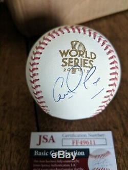 Houston Astros Carlos Correa Signed Autograph 2017 World Series Baseball Jsa Coa