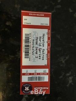 Houston Astros World Series Game 5 Ticket Stub 10/29 2017 Mint Condition