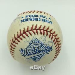 Incredible 1995 Cleveland Indians Team Signed World Series Baseball 40 Sigs! JSA