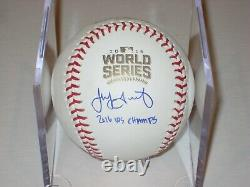 JAKE ARRIETA Signed Official 2016 WORLD SERIES Baseball & Insc MLB Authenticated