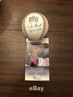JOE WEST SIGNED 2016 World Series Baseball Chicago Cubs Rare JSA UMPIRE