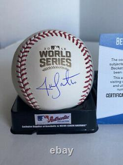 JON LESTER signed auto 2016 World Series Baseball CHICAGO CUBS with COA BECKETT
